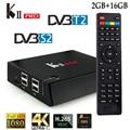 KII Pro S2 DVB-T2 Caixa de TV Android 2 GB/16 GB Amlogic S905 Quad-core Smart Set Top Box K2 Pro Bluetooth4.0 Dual Wifi 4 K Mídia jogador