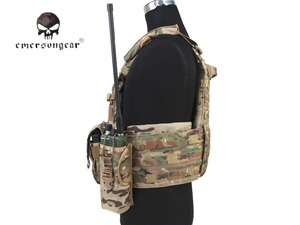 Image 2 - Emersongear LBT6094A Style Tactical Vest With 3 Pouches Airsoft Military Combat Vest AT FG EM7440G