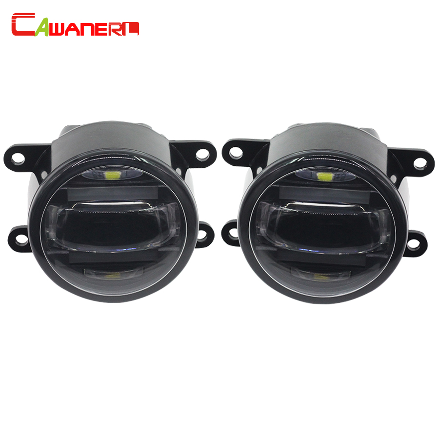 Cawanerl 2 X Car LED Fog Light Daytime Running Lamp DRL For Land Rover Freelander 2 Range Rover Discovery 4 Range Rover Sport new car white led license plate light lamp for land rover discovery 3 4 freelander 2 for rang rover sport white auto car lights