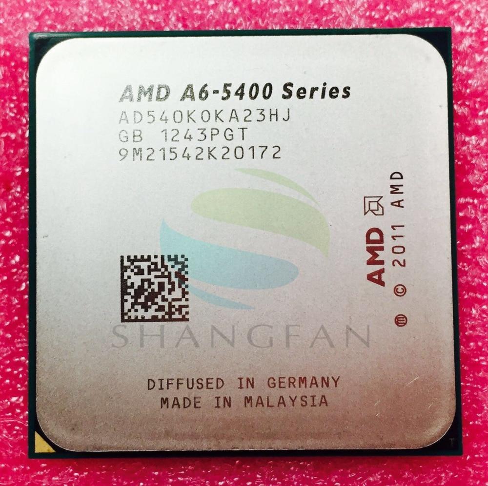 AMD A6-Series A6 5400 A6 5400B A6-5400K A6 5400K 3.6Ghz 65W Dual-Core CPU Processor AD540KOKA23HJ AD540BOKA23HJ Socket FM2