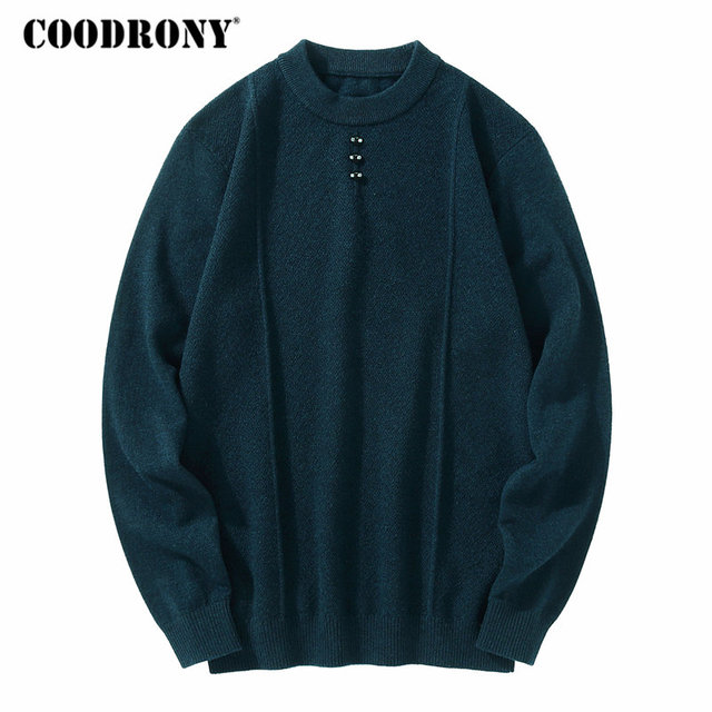 COODRONY Merino Wool Sweater Men Casual O-Neck Pullover Men Clothes 2018 Autumn  Winter Thick Warm Knitted Cashmere Sweaters 8308 dfe99db7a