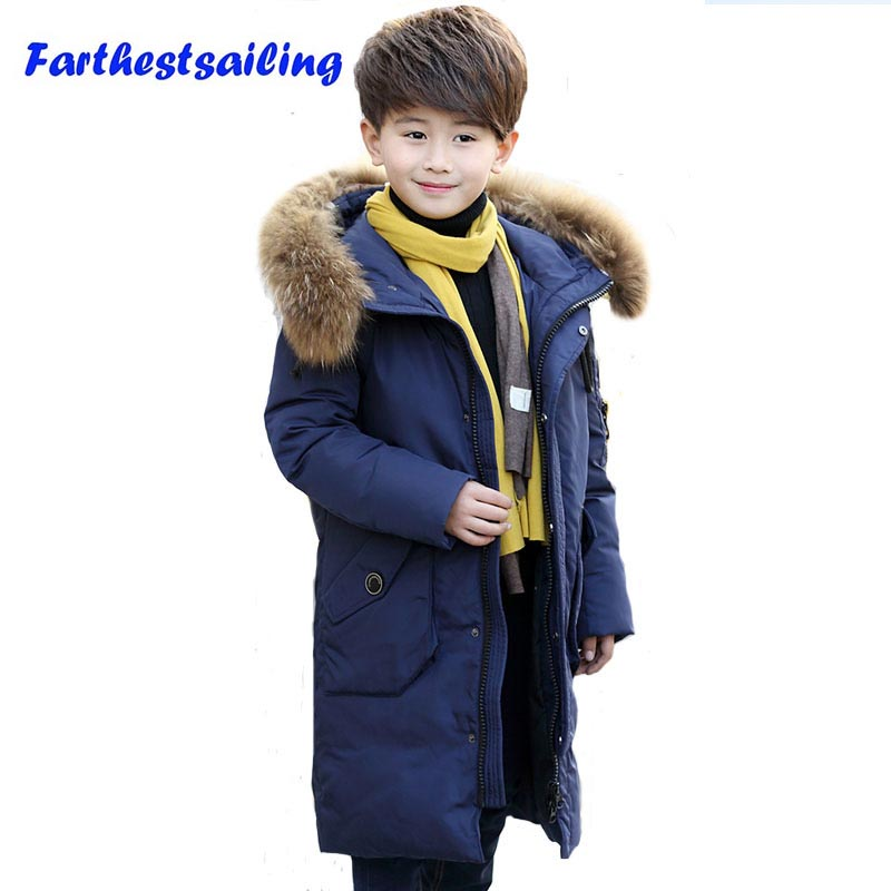 Jacket For Boy Children Down Jacket Kids Snow Clothes Teenage Winter Parka Duck Down Coat Children Clothing Boys Outerwear цена