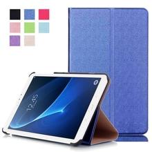 Para Samsung Galaxy Tab A7 T280 T285 Delgado Plegable Cubierta de la Caja de la Tableta Soporte de Cuero de LA PU Perfecto Protección Segura
