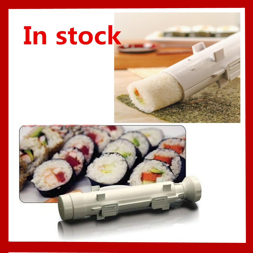 Christmas Sushe Roller Kit Sushi Mold Maker Bazooka Sushi Rolls Making Tool Kitchen Dining Rice Mould Roller Cooking Tools