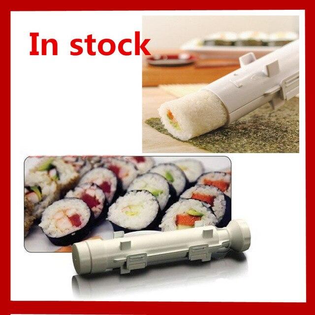Новогодние товары sushe комплект роликов Суши прессформы чайник Базука суши рулоны делает инструмент Кухня обеденный риса плесени ролик Пособия по кулинарии Инструменты