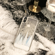 Luxury Glitter Christmas Snowflake Phone Case For iPhone X 8 7 6 S 6S Plus 3D Dynamic Liquid Clear Back Cover Cases