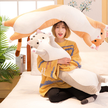 Long Cat Toy 90cm Pillow Plush Toy Soft Cushion Stuffed Animal Doll Sleep Sofa Bedroom Decor Kawaii Lovely Gifts for Kids Toys стоимость