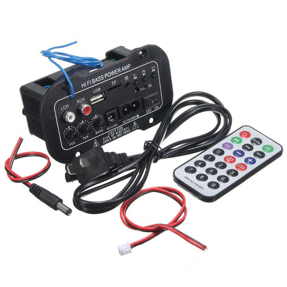 220V 車の Bluetooth 2.1 ハイファイ低音パワーアンプミニオートカーアンプステレオラジオオーディオデジタルアンプ USB TF リモート