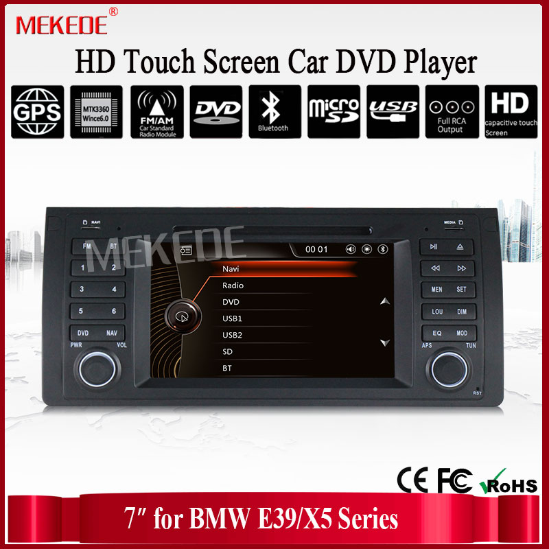 7'' HD Capacitive Touch Screen Car DVD for E39 E53 x5 with Bluetooth Radio Canbus SWC GPS navigation ipod free 8gb map card