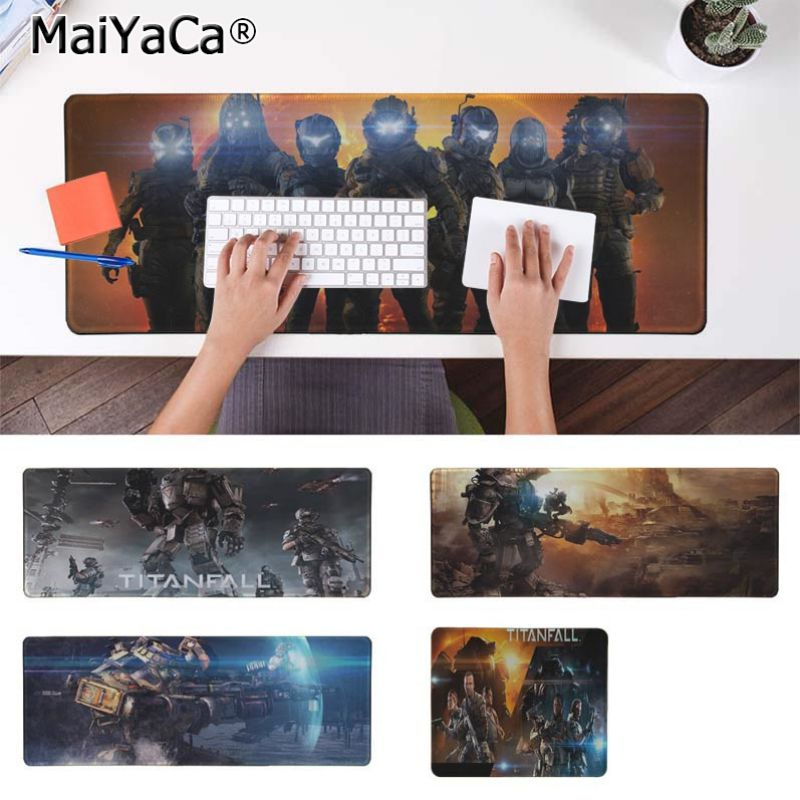 Yinuoda Titanfall Keyboard Gaming MousePads Size for 30x90cm and 40x90cm Gaming Mousepads