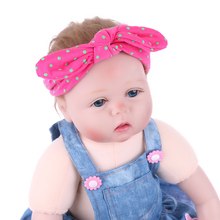 1pcs Fashion Lovely Girls Kids Polka Dot Turban Knot Rabbit Hairband Headband Head wrap Hair Band