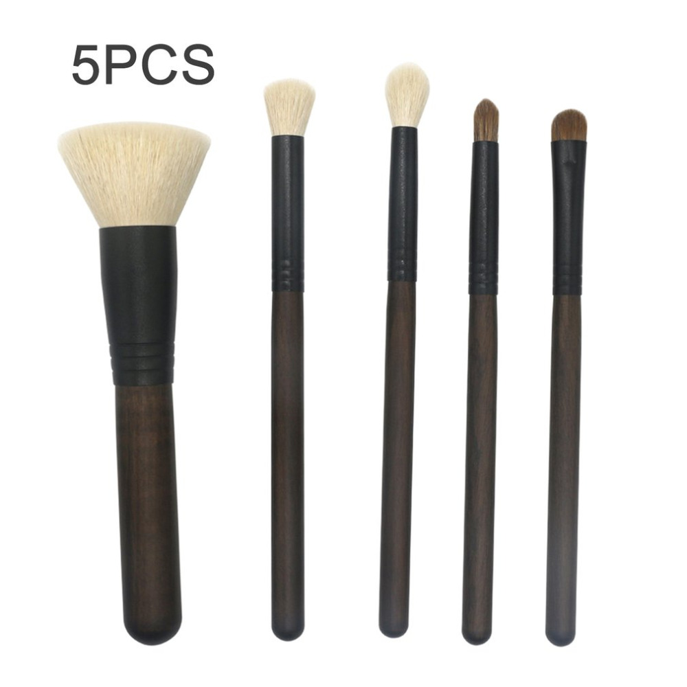 5pcs Makeup Brushes Set Soft Wool Hair Wooden Handle Powder Brush Face Foundation Eyeshadow Brushes Women Make Up Tools New Sale 22p01 professional makeup brushes soft sokouhou goat hair face powder brush black handle cosmetic tools make up brush