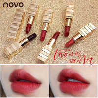 NOVO 2018 Brand matte lipstick Makeup Velvet 6colors Korean Style lip balm Nourishing long lasting Waterproof Smooth Lipstick