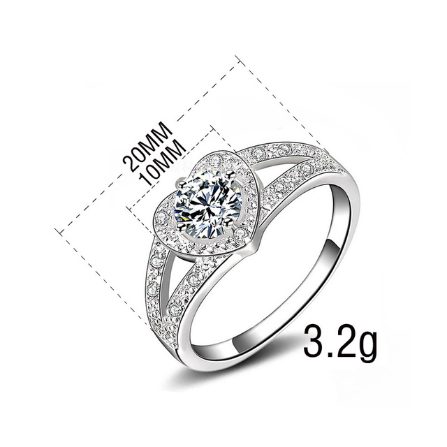 Ring Rings For Women 925 Sterling Silver color Jewelry Bague Anillos Mujer Bague Anel Feminino Gague Femme Fnelli  Homme Love