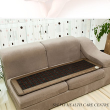 2016 New products for sale! Hot heating tourmaline stone cushion heated stone mattress back pain relief