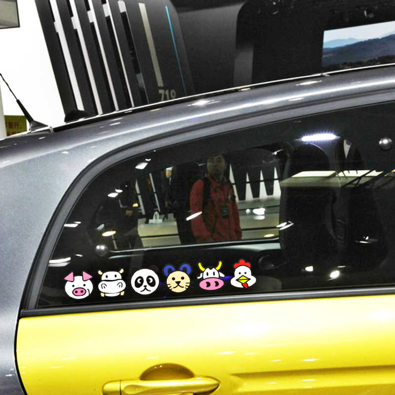 Accessoires de voiture Volkrays dessin animé drôle Panda avertissement autocollant décalque décoration pour moto Honda Chevrolet Fiesta Ford Bmw X5