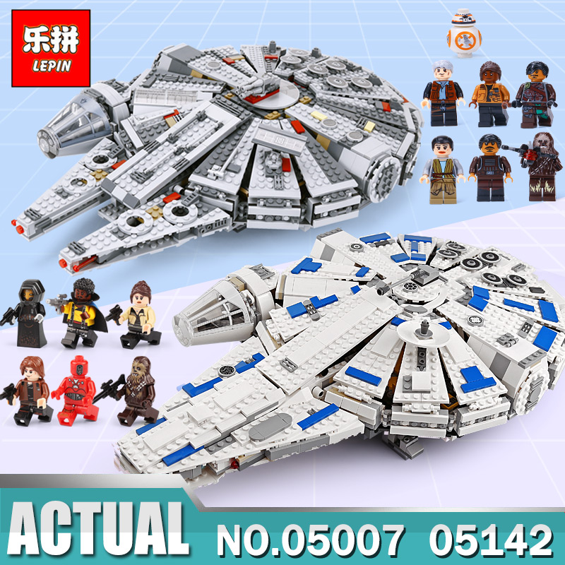 In Stock Lepin 05142 Star Set Wars Force Awakens Millennium compatible LegoINGs 75212 Toys Falcon Model Building Bricks Boys Toy new force awakens fighter fit legoings star wars millennium falcon figures 10467 75212 building blocks bricks gift kid toys