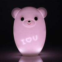 Colorful Lemon Smart Led Light Bear Intelligent Cartoon Children Nursery Lamp Induction Light Usb Smart Music Night Light