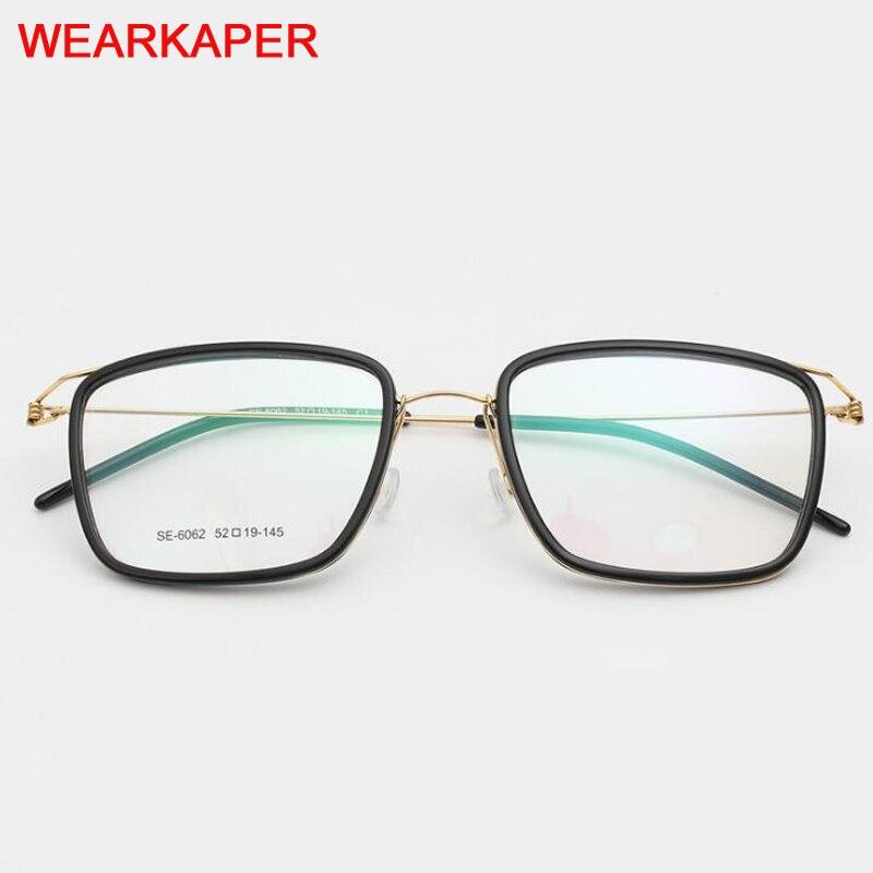 Titanium Alloy Optical Glasses Frame Men Prescription Eyeglasses Korean Denmark Women Brand Designer Myopia Screwless Eyewear