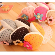 Flowers Winter Wear Ear Muffs Accessories For Women Kids Earmuffs Faux Fleece Warmers Wholesale
