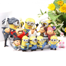 14 Pcs/sets Despicable Me Minions Edition Action Figure Toys 3-7 CM PVC Minion Anime Collectible Ornaments Toy Small Gift