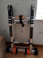 1.7m+1.7m Multipurpose Thicken folding ladders Telescopic ladders dual purpose trestle ladder Straight ladder