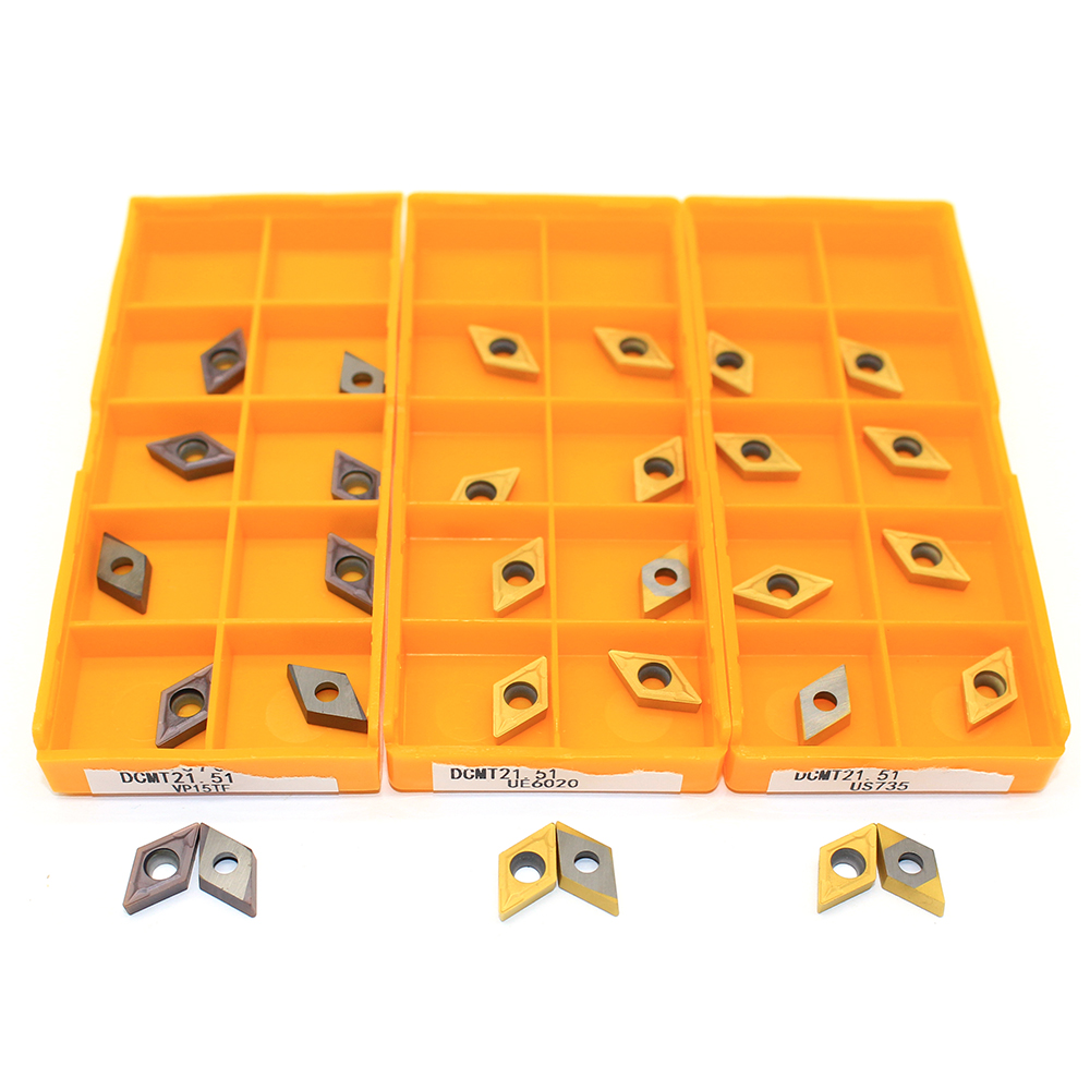 DCMT070204 UE6020 / US735 / VP15TF Internal Turning Tools Carbide Inserts Cutting CNC Tools Lathe Tools Lathe Cutter Amw