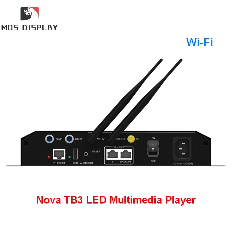 WiFi ,automatic And Timing Smart Brightness Adjustment Novastar Taurus Series TB3 LED Multimedia Player