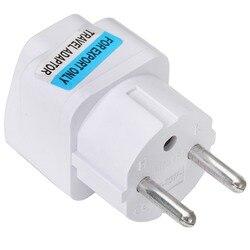 Neue Ankunft 2017 Beste Preis Universal UK US AU zu EU Weiß Europäischen Ladegerät Steckdose Plug Power Adapter Reise konverter