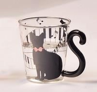 Creative Cute Cat Glass Mug Cup Milk Coffee Juice Cup Drinkware Handmade Pyrex Glass Tea Cup Beautiful Gift Free Shipping