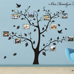 Large size 1800 x1500mm house photo diy frame family tree - Arbre genealogique stickers ...