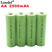 4PCS-40pcs AA 2500mah Rechargeable Battery 1.2V Batteries 2A Ni-MH batteies for Remote Control Toy real capacity