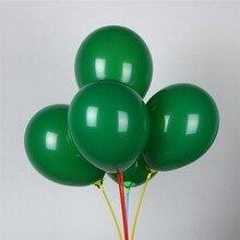Dark green balloon 50pcs/lot10 inch 2.2g round helium ballons wedding decorations baloons kids birthday single party supplies