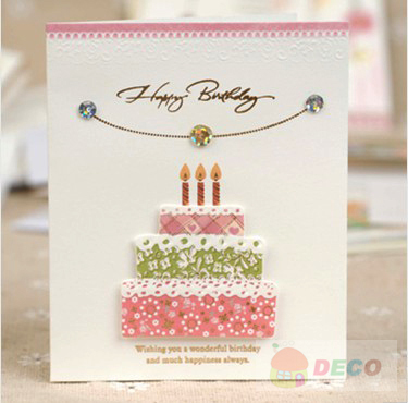1PC/lot Size:7.5x9cm,Cute small Birthday cards