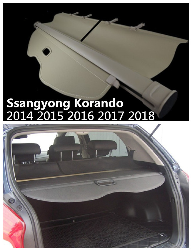 For Ssangyong Korando 2014 2015 2016 2017 2018 Rear Trunk Security Shield Cargo Cover High Qualit Auto Accessories Black Beige image
