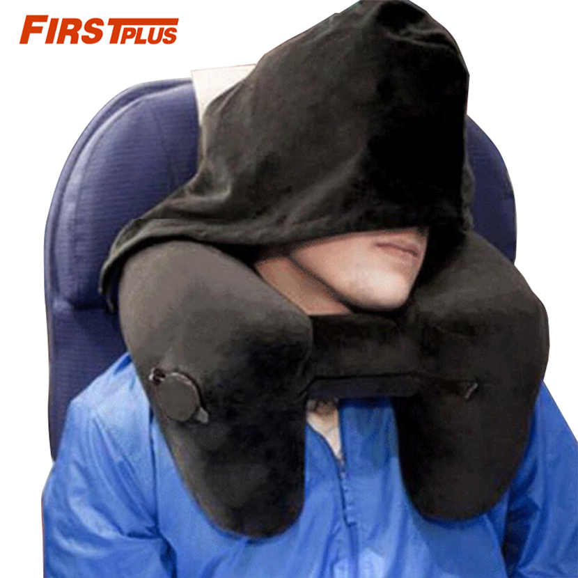 Inflatable Neck Travel Pillow Portable Airplane Car Air Head Rest Support Folding Travel Seat Sleep Pillows Airport Outdoor