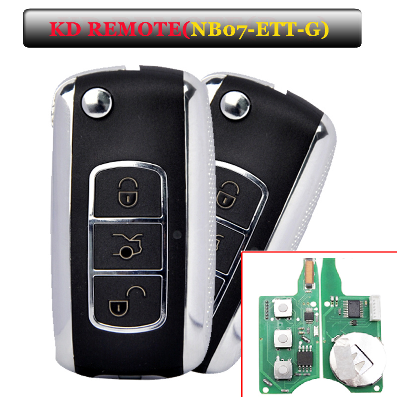 Free shipping Free shipping (5 pieces)Keydiy KD900 NB07 3 button remote key with NB-ETT-GM model for Chevrolet,buick,opel etc