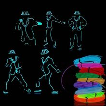 Battery LED Strip Light Neon Light Glow EL Wire Rope Tube Cable Waterproof Dance Party Decor Neon Lamp For Car Shoes Clothing(China)