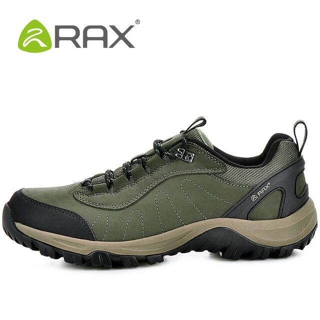 RAX Luar Ruangan Hiking Sepatu Wanita Permukaan Kulit Tahan Air Sepatu  Hiking Untuk Pria Ringan Sepatu 56e4942089