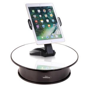 Image 5 - White Velvet Top Motorized 360 Degree Jewelry Display Stand By Battery Rotation Turntable