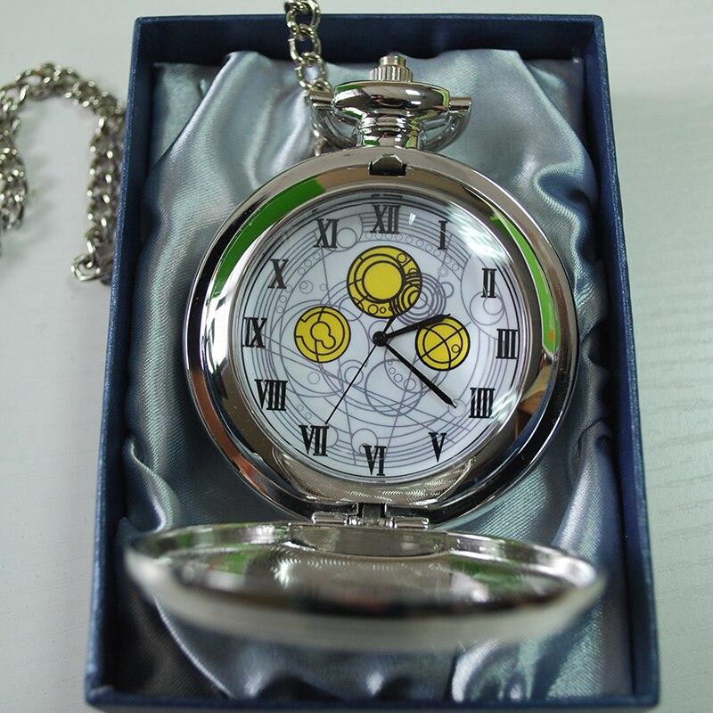 1pcs/lot Doctor Who Quartz Pocket Watch Chain Necklace Dr ...