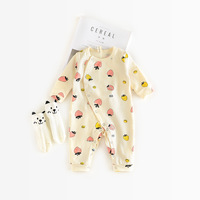 4 Colors Baby Rompers Cotton Fruit Print Baby Boy Girl Boy Unisex Long Sleeves Kids Clothing