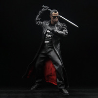 1/6 Scale Wesley Snipes Blade Super Warrior Black Hunter Leather Suit Clothing Set for 12 Inches Action Figure Body Accessory