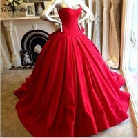 Ever pretty Red Ball gown evening dresses 2019 Robe de soiree abiye abendkleider Evening gown robe longue Party ball dress