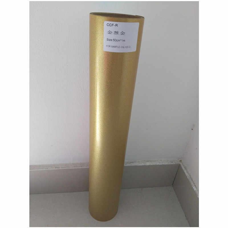"""(0.5m * 1 M) glitter สีทองตัด PU Flex ไวนิล A4 ขนาด 20 """"x 39.37"""" ความร้อนไวนิลฟิล์มสำหรับเสื้อผ้าเหล็กบนไวนิล"""