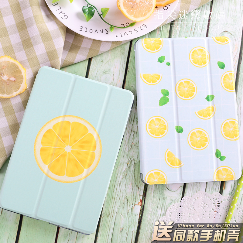 Summer  Lemon Flip Cover For iPad Pro 9.7 10.5  Air Air2 Mini 1 2 3 4 Tablet Case Protective Shell For New iPad 9.7 2017 A1822 for new ipad 9 7 2017 visual acuity chart flip cover for ipad pro 9 7 10 5 air air2 mini 1 2 3 4 tablet case protective shell