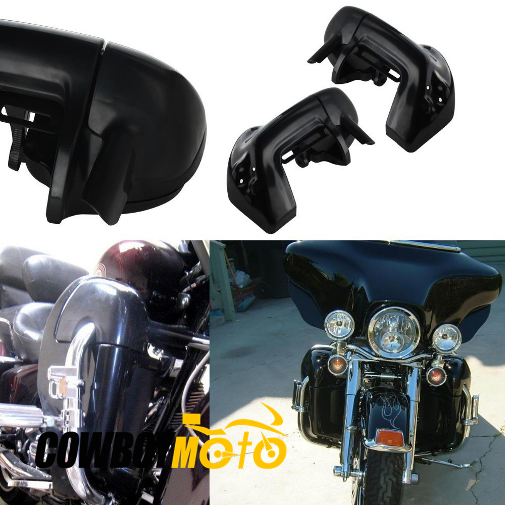 Motorcycle Lower Vented Leg Fairings Kit For Harley Davidson Touring Road King Electra Glide FLHT цена и фото