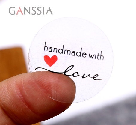 160Pcs/Lot Dia:2.5cm Transparent Thank Your Heart Sealing Sticker Stationery Gift Bakery Stickers Cookies Label Supply (ss-1609)
