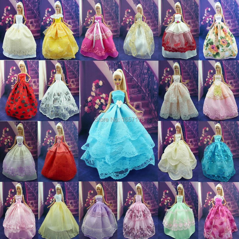 Au hasard choisir 5 pcs / lot main robe de soirée de mariage - Poupées et accessoires - Photo 2