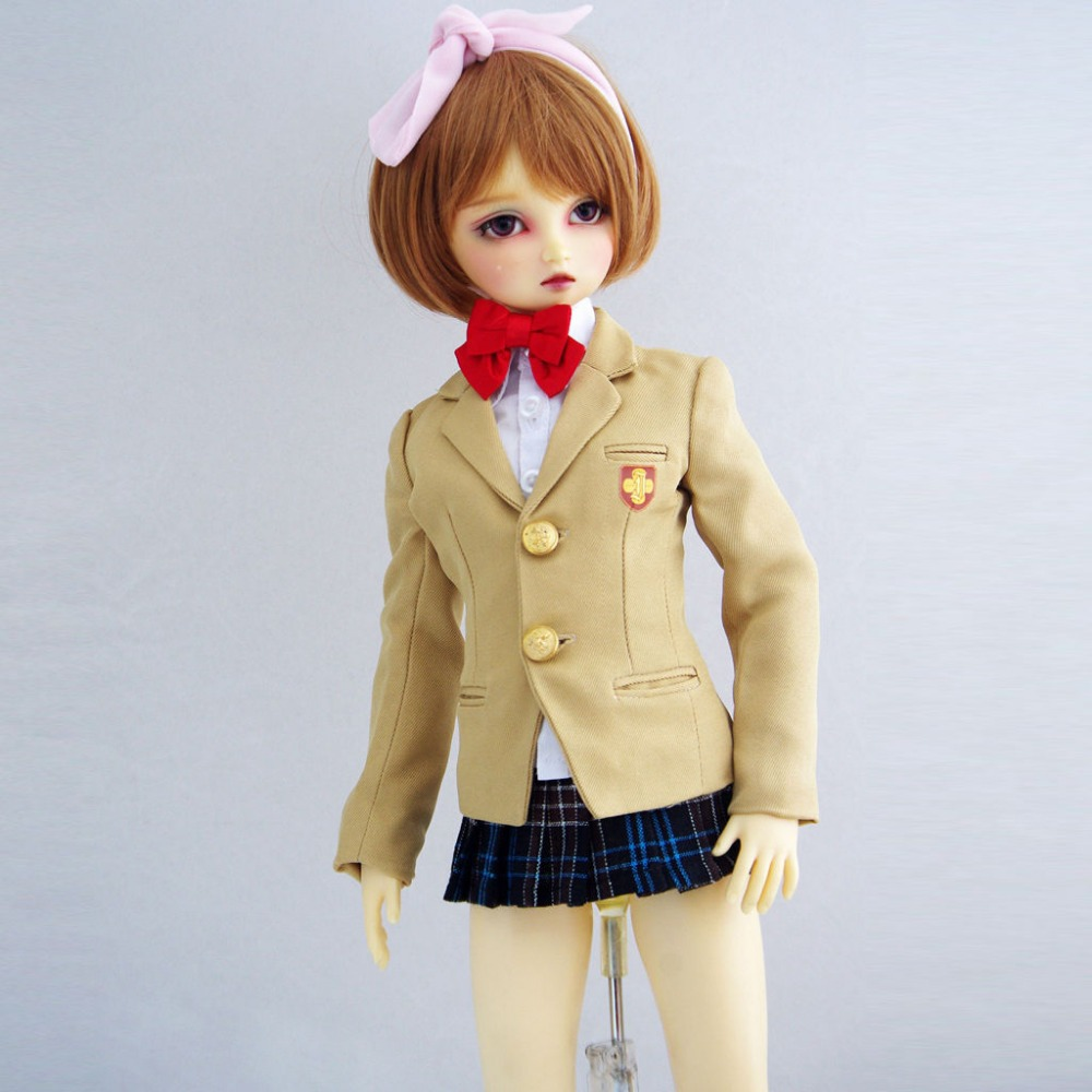 Suit Clothes 1//4 MSD AOD DOD DZ BJD Dollfie 251# Light Cyan Shirt PF